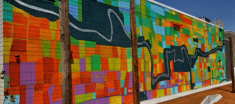 Mural of Glendale and the Jordan River