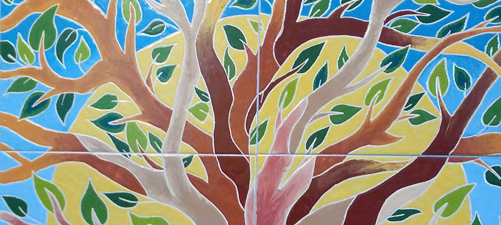 Tree tops on Hartland mural