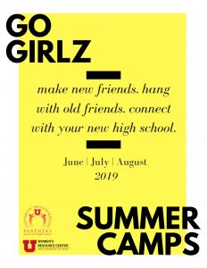 Go Girlz Summer Camp Poster